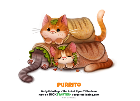 Daily 1328. Purrito by Cryptid-Creations