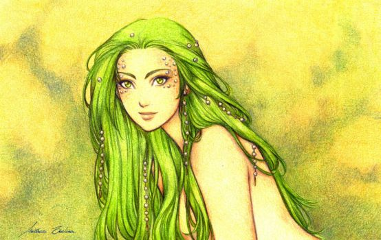 Green Mermaid by AndieCris