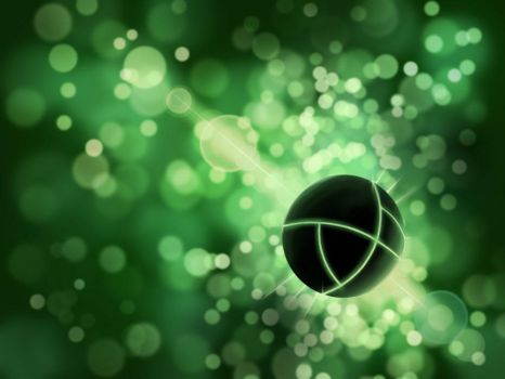 Green Sphere by CarmenScholte