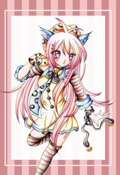 Cat girl Pink by 3bgrass