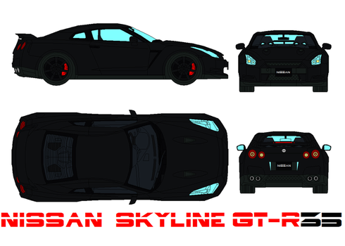 Nissan Skyline GT-R 35 by bagera3005