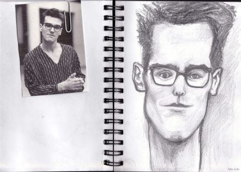 Morrissey caricature by amyria