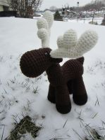 Crocheted Moose Number 2 by aphid777