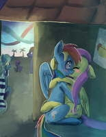 Heehee have fun you two? by Bread-Crumbz