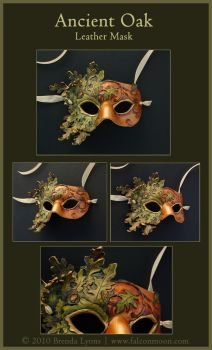 Ancient Oak - Leather Mask by windfalcon