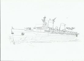 Big U military converted sketch by Admiral-Kevin