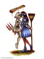 Marionette and Alice by BlackMageAlodia