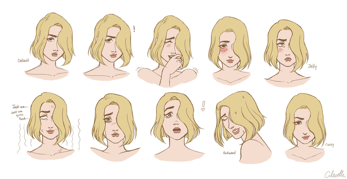 Roxanne's expressions by Clavelle