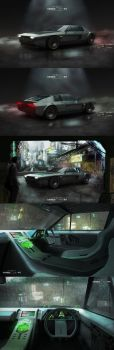 Ghost in the Shell - Batou's Car by RadVisual