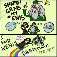 Dumbledore's Gay?: Snape + D by AymsterSilver