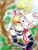 Yondaime with Naruto by c-lla