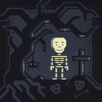 Skeleboy character design by m7