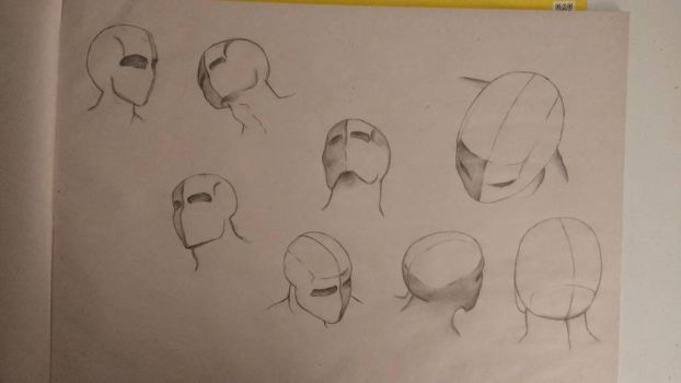 practice figure drawing  the head creative sketch  by randyjackson20