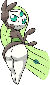 Meloetta's big growing booty by HybridProjectAlpha