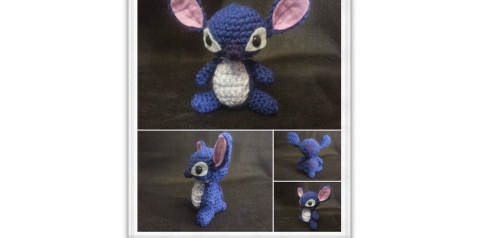 Stitch Amigurumi by kiwicrochet