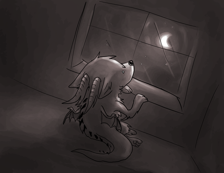 Sometimes at night... by dragonicwolf