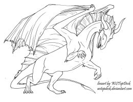 Dragon lineart-free use by WSTopDeck