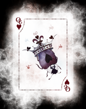 Beetle Royale Playing Cards - Queen of Hearts by atomantic