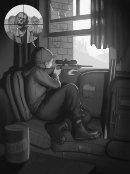 Zombie Sniper by CChhim