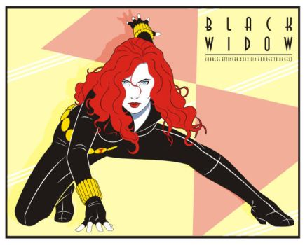 black widow from the avengers by CharlesEttinger