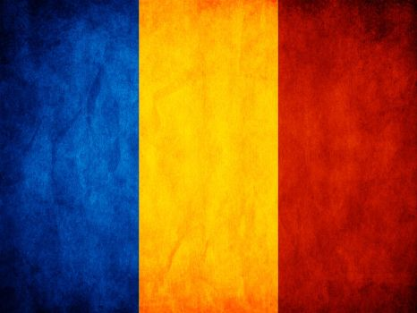 Romanian Grunge Flag by think0
