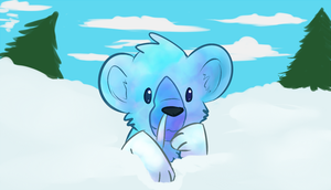 flop by ice-block
