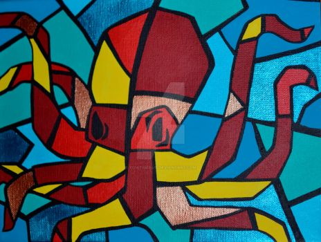 Cubism Octopus by ToniTiger415