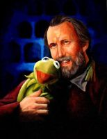 jim henson and kermit by GirlNamedEd