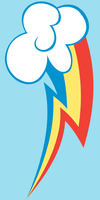 Cutie Mark: Rainbow Dash by Blanishna