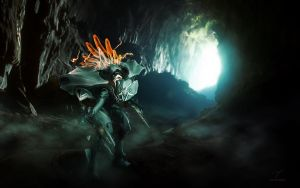 A Knight in the Cave by Smyf