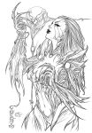 Cafaro's Witchblade - Inks by TracyWong