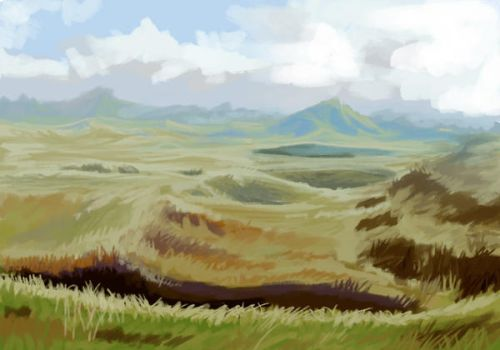 Hilly Plains by Kalidassa