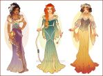 Art Nouveau Costume Designs III by Hannah-Alexander
