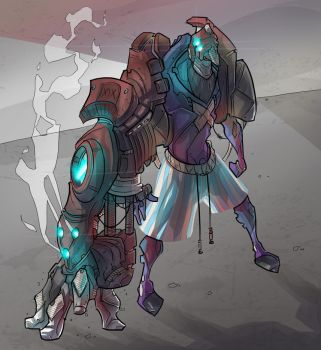 Mecha Concept / The Colossus Fist by BrotherBaston