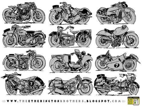 12 motorcycle concepts by STUDIOBLINKTWICE