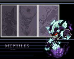 Mephiles wallapaper by Faezza