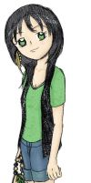 Trendy Girl - colored by Scarydestiny