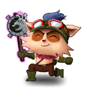 Teemo with a Needlessly Large Rod by lolleaves