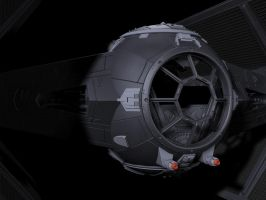 Stealth TIE Fighter by dczanik
