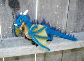 ooak needle felted dragon by amber-rose-creations