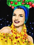 lady in the tutti frutty hat colour by elenhpaine