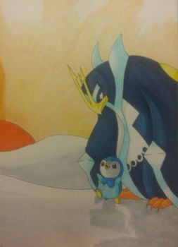 piplup and empoleon by Shadow-Storm99