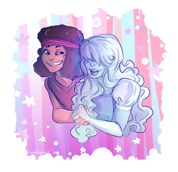 Ruby and Sapphire by Simply-Psycho