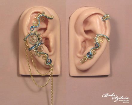 Electric steampunk ear wrap set by bodaszilvia