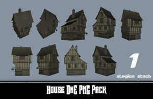 House 1 PNG Stock Pack 1 by Alegion-stock