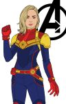 Captain Marvel - Color Scheme by JamieFayX