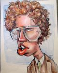 Caricature of Napoleon Dynamite by Kiracatures