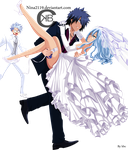 Gray, Juvia and Lyon : With Or Without You by nina2119