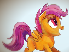Overjoyed Scootaloo by mywatercolorheart