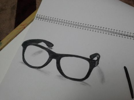 3D glasses drawing by supermaxxx